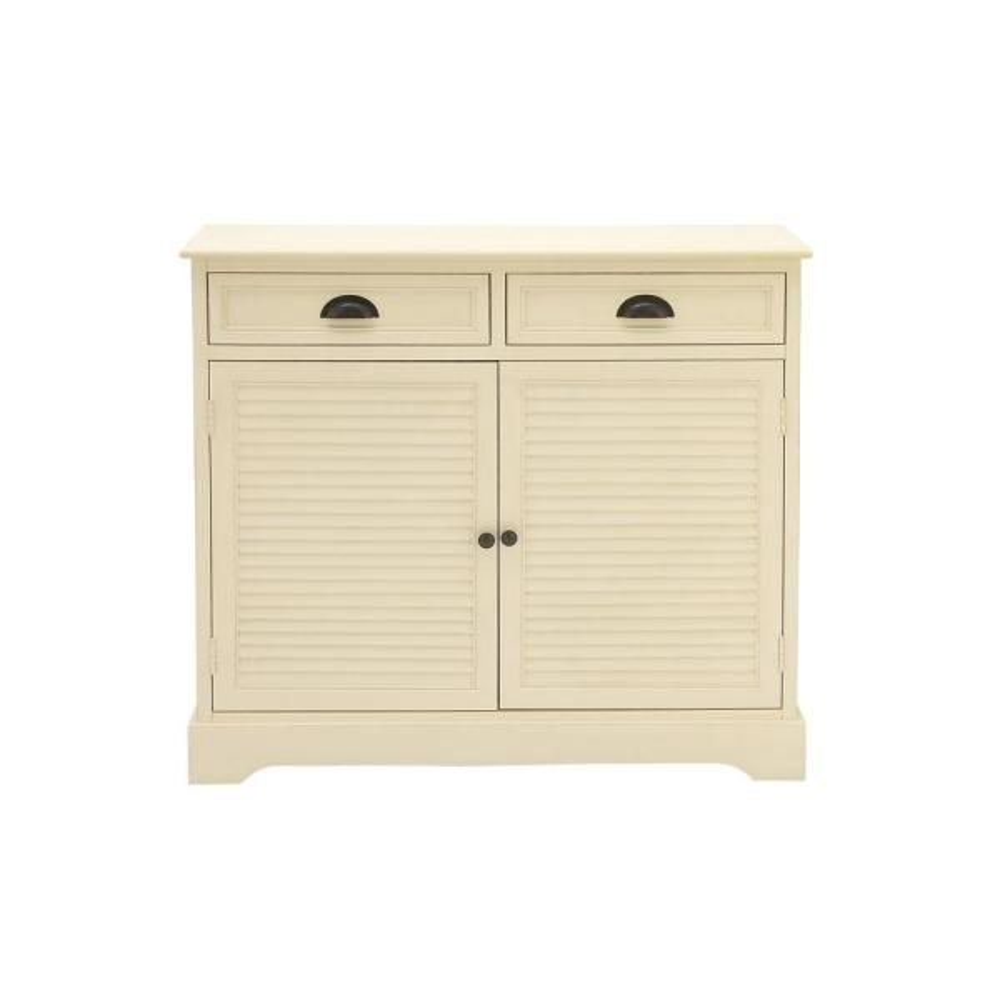 Litton Lane New Traditional Cream White Wooden Cabinet