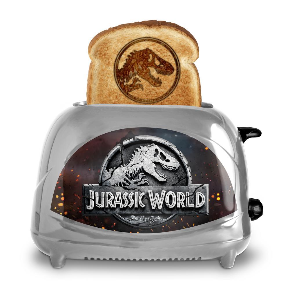 Uncanny Brands Jurassic World Fallen Kingdom Toaster Silver