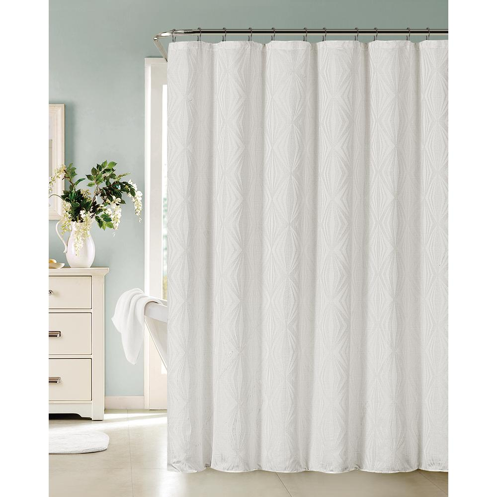 Dainty Home Romance 72 In White Shower Curtain