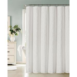 Romance 72 inch White Shower Curtain by