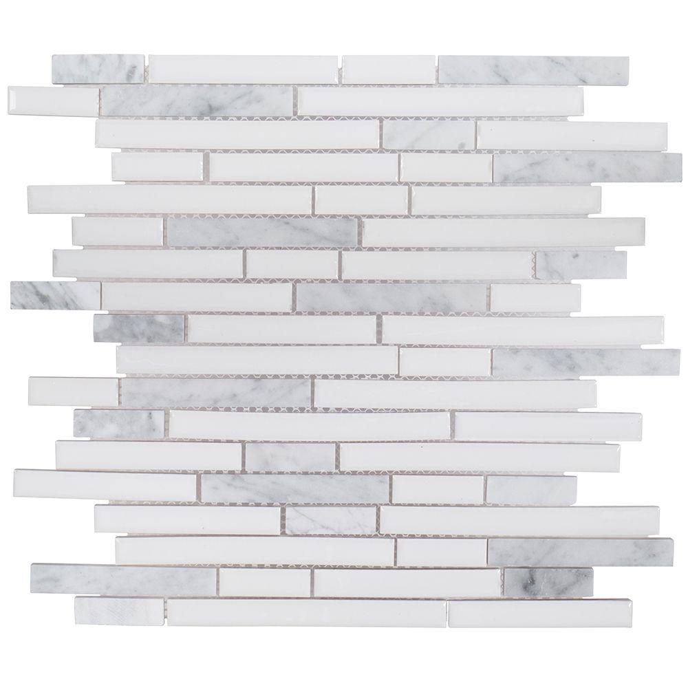 jeffrey court sugar cane 11 1 2 in x 11 7 8 in x 8 mm ceramic rh homedepot com Mosaic Glass Tile Backsplash Decorative Ceramic Tile Backsplash