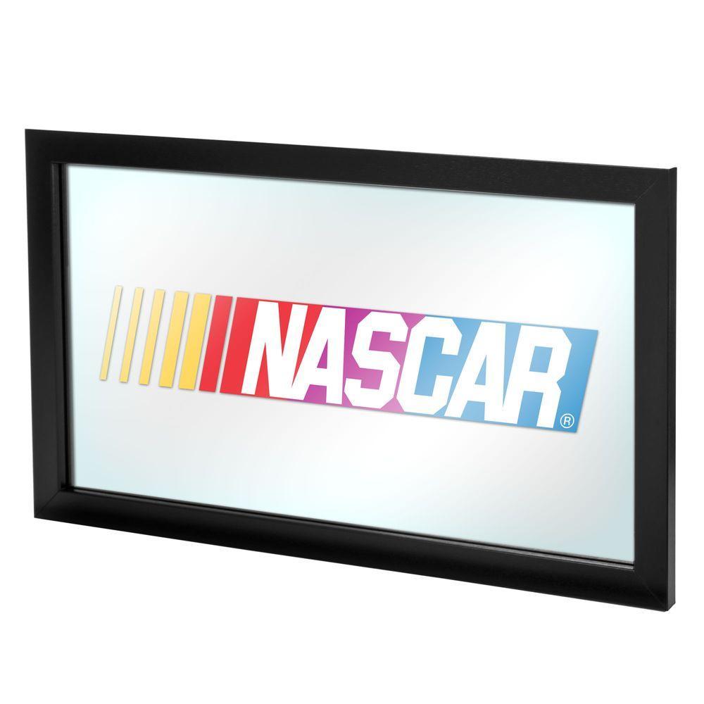 NASCAR 15 in. x 26 in. Black Wood Framed Mirror