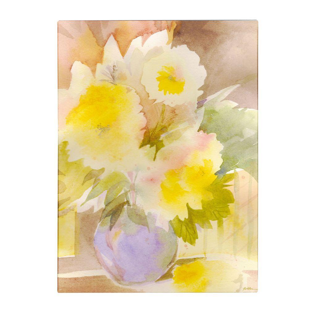 19 in. x 14 in. Two Garden Flowers Canvas Art