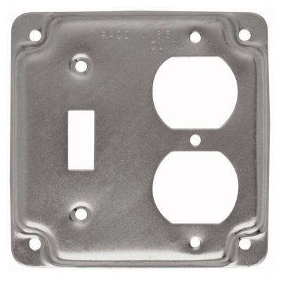 4 in. Square Cover, Exposed Work, Duplex/Toggle 10-Pack)