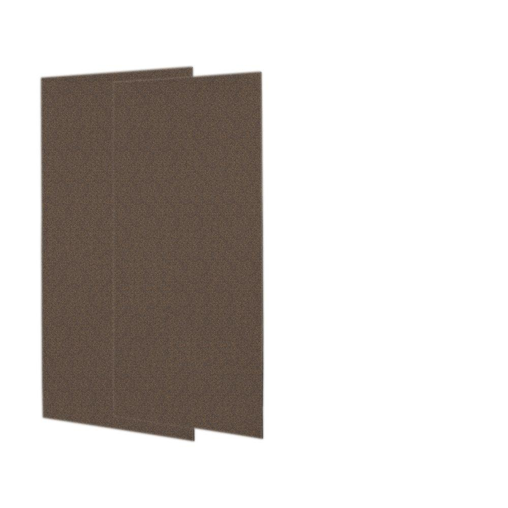 Swanstone 1/4 in. x 36 in. x 72 in. Two Piece Easy Up Adhesive Shower Wall Panels in Sierra-DISCONTINUED