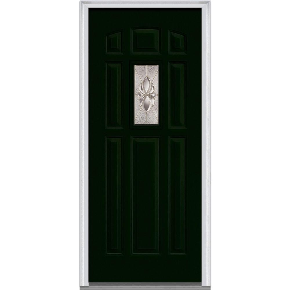 Mmi door 32 in x 80 in heirloom master left hand 1 lite for 8 lite exterior door