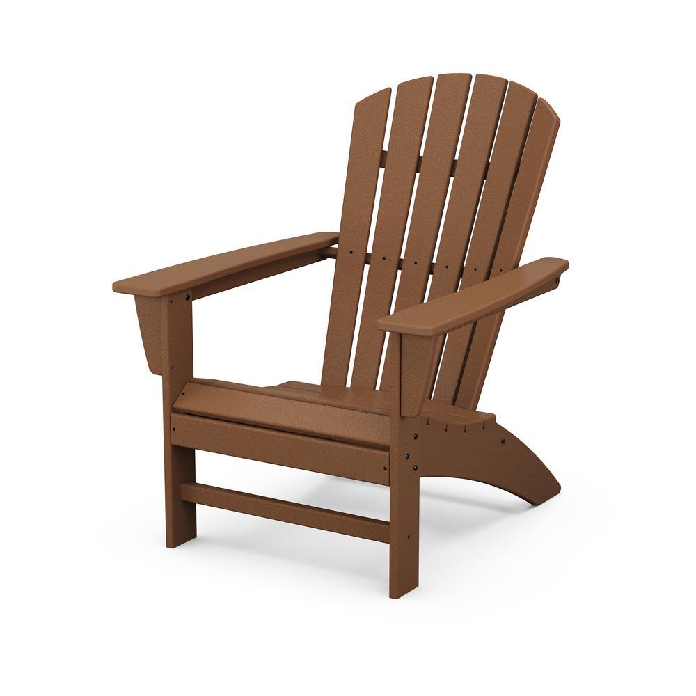 Grant ParkTraditional Curveback Teak Plastic Outdoor Patio Adirondack Chair