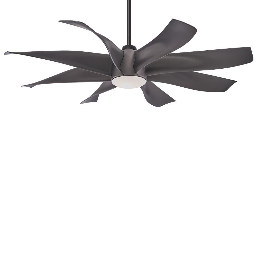Minka-Aire Dream Star 60 in. Integrated LED Indoor Graphite Steel Ceiling Fan with Light with Remote Control