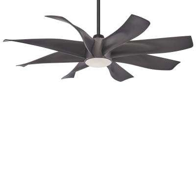 Dream Star 60 in. Integrated LED Indoor Graphite Steel Ceiling Fan with Light with Remote Control