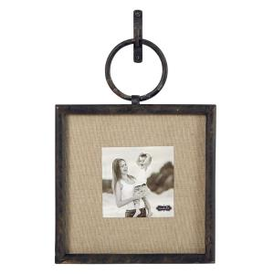 Cast Iron 4 inch x 4 inch Square Vertical Loop Frame by