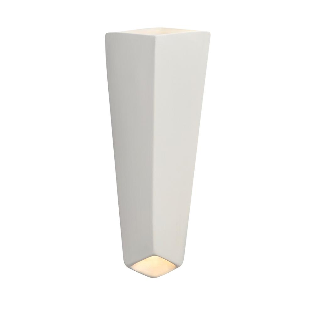 Justice Design Ambiance Prism 24-Watt Bisque Integrated LED Sconce
