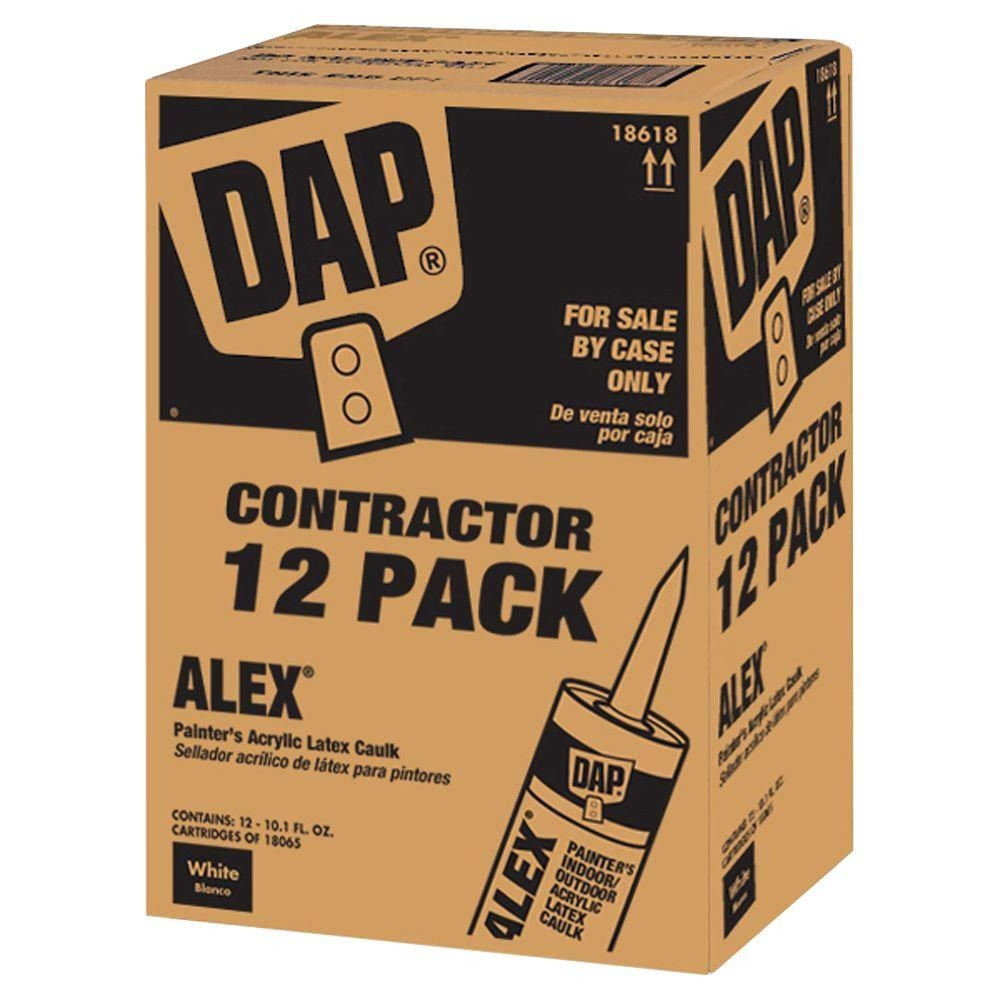 dap alex 10 1 oz painter s all purpose acrylic latex caulk 12 pack