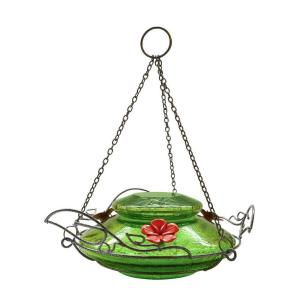 Nature's Way Green Crackle Modern Top Fill Hummingbird Feeder by Nature's Way