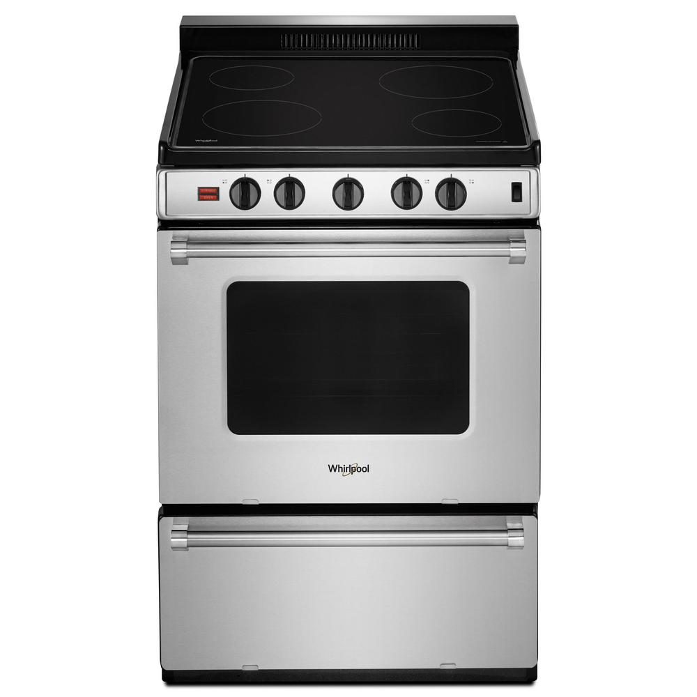 Whirlpool 2.96 cu. ft. Single Oven Electric Range with Upswept Spill Guard Cooktop in Stainless Steel