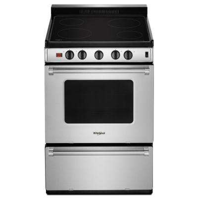 3.0 cu. ft. Single Oven Electric Range with Upswept Spill Guard Cooktop in Stainless Steel