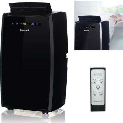 10,000 BTU, 115-Volt Portable Air Conditioner with Dehumidifier and Remote Control in Black