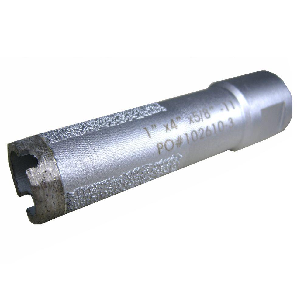 1 in. Wet Diamond Core Bit with Side Strips for Granite