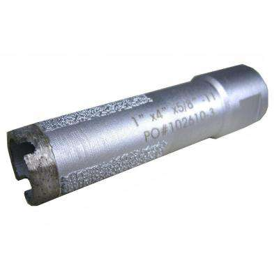 1 in. Wet Diamond Core Bit with Side Strips for Granite Drilling