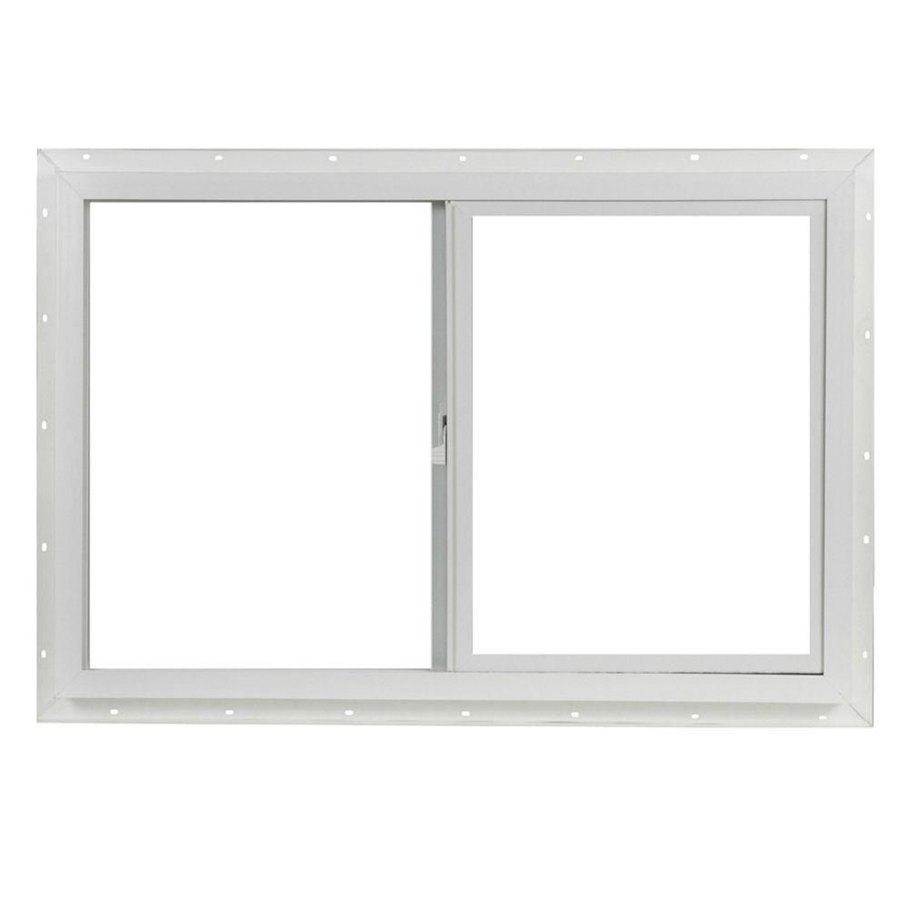 TAFCO WINDOWS 35.5 in. x 23.5 in. Left-Hand Single Sliding Vinyl Window - White
