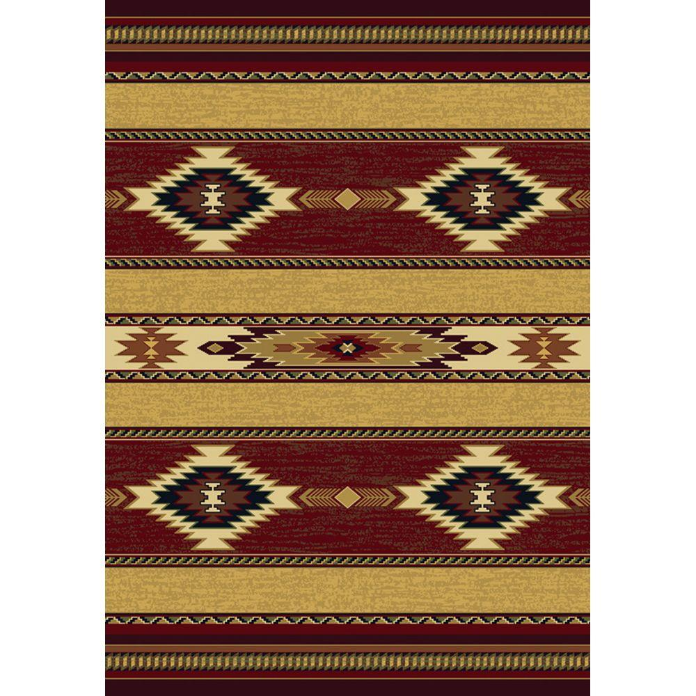 United Weavers Overstock Tulsa Ruby 7 ft. 10 in. x 10 ft. 6 in. Area Rug