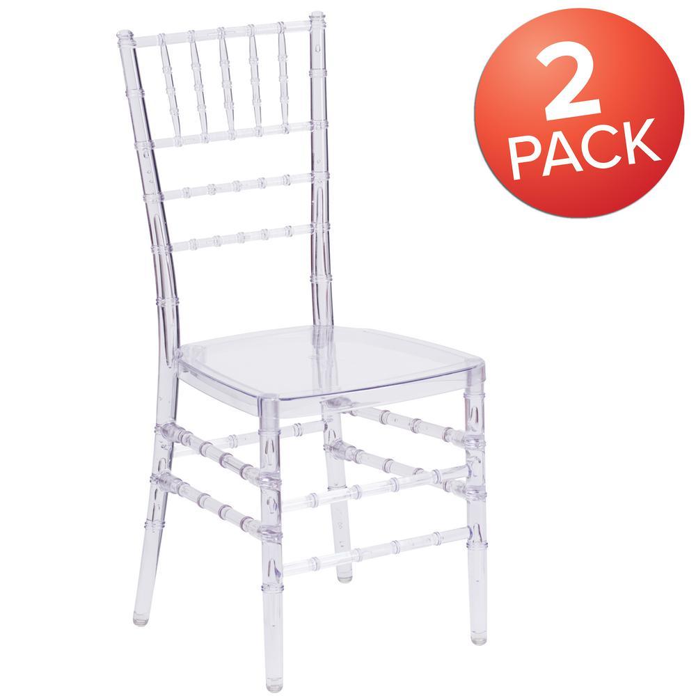 Crystal Ice Crystal Chiavari Chairs (Set of 2)