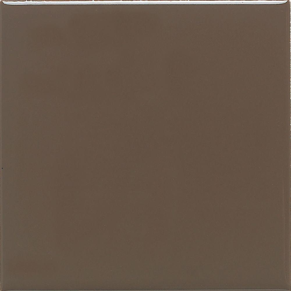 Daltile Matte Artisan Brown 4 1 4 In X 4 1 4 In Ceramic Wall Tile 12 5 Sq Ft Case 0744441p1 The Home Depot