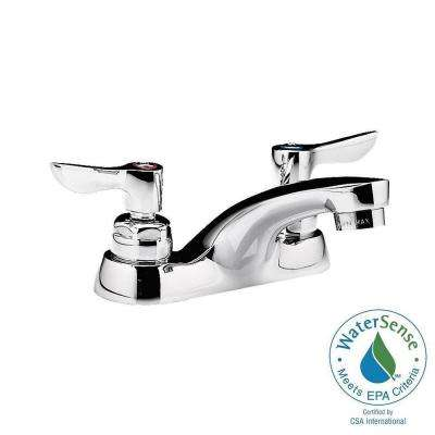 Monterrey 4 in. Centerset 2-Handle Low-Arc Bathroom Faucet in Polished Chrome
