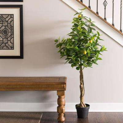 51 in. Real Touch Lemon Flowering Tree with Pot