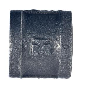 1 2 in black malleable iron fpt x fpt coupling 521 203hn the home depot. Black Bedroom Furniture Sets. Home Design Ideas