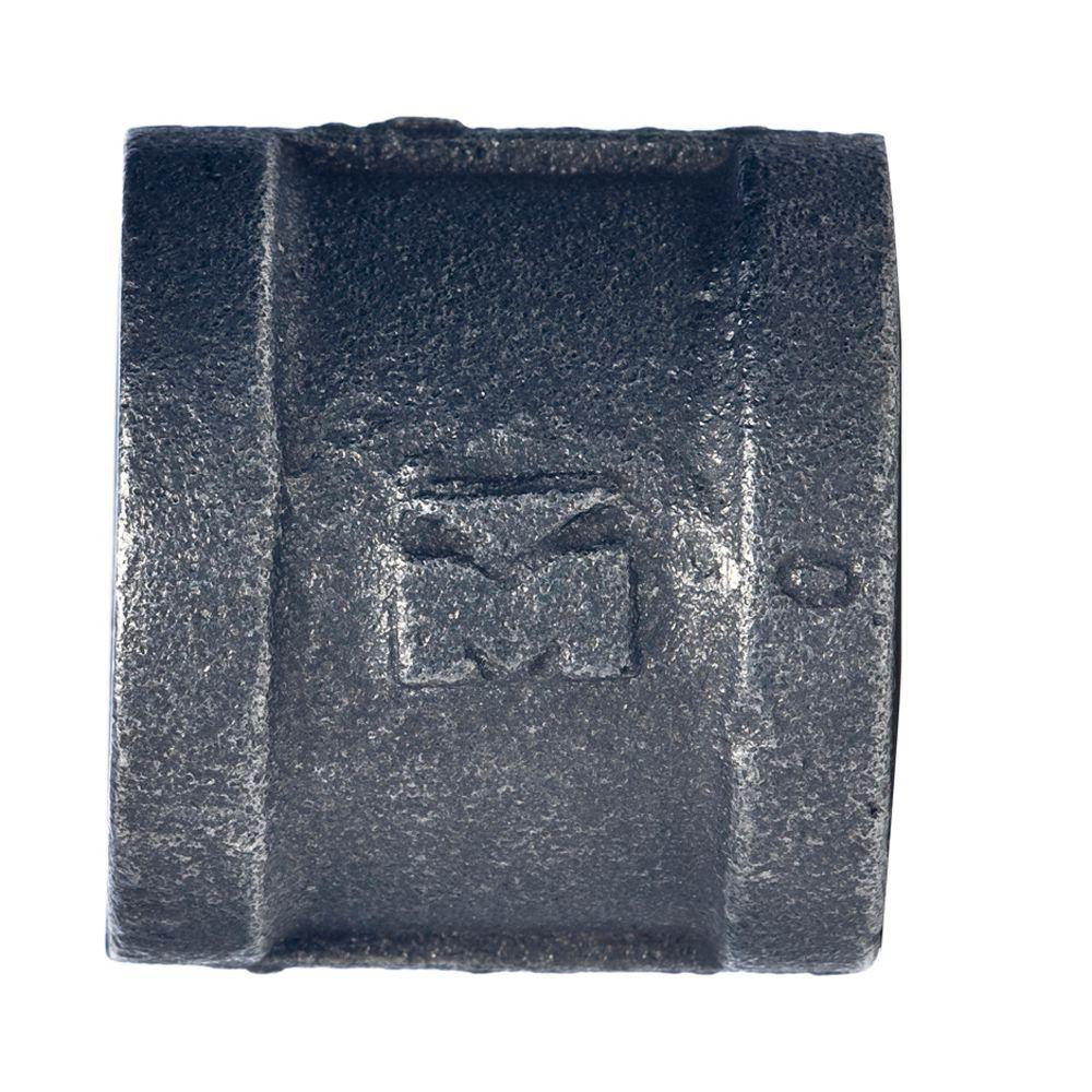 Mueller Global 1 in. Black Malleable Iron FPT x FPT Coupling