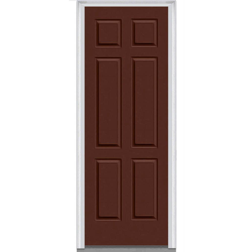 6 panel painted majestic steel exterior door