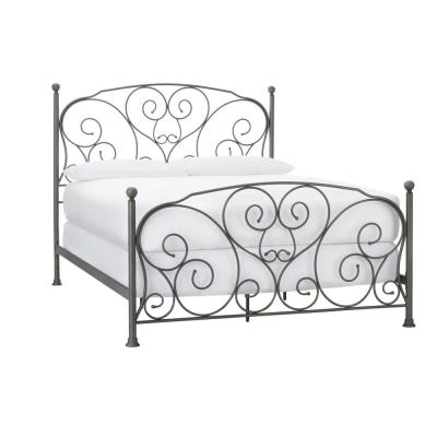 Dayport Oil Rubbed Bronze Metal King Scroll Bed (81.3 in W. X 56.69 in H.)