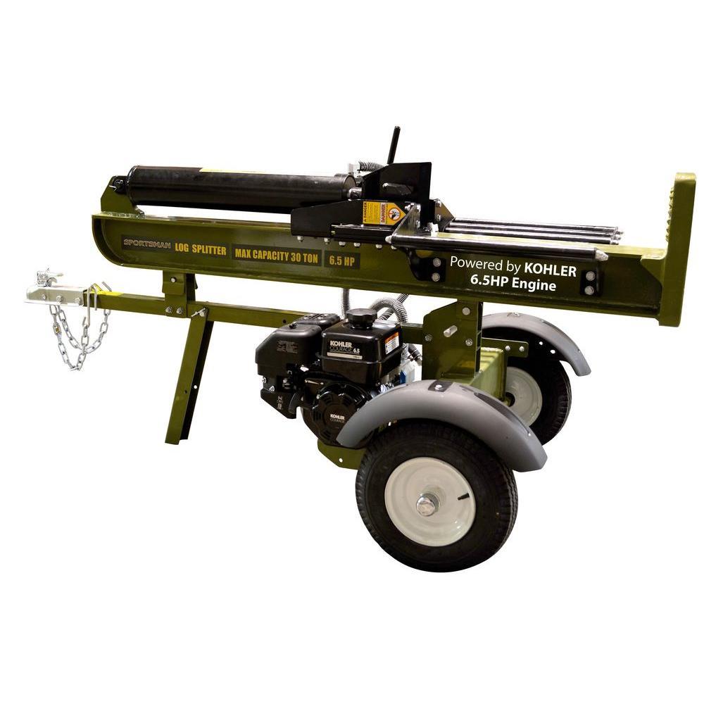Sportsman 30-Ton 6.5 HP 196 cc Kohler Powered Gas Log Splitter with 4-Way Splitting Wedge