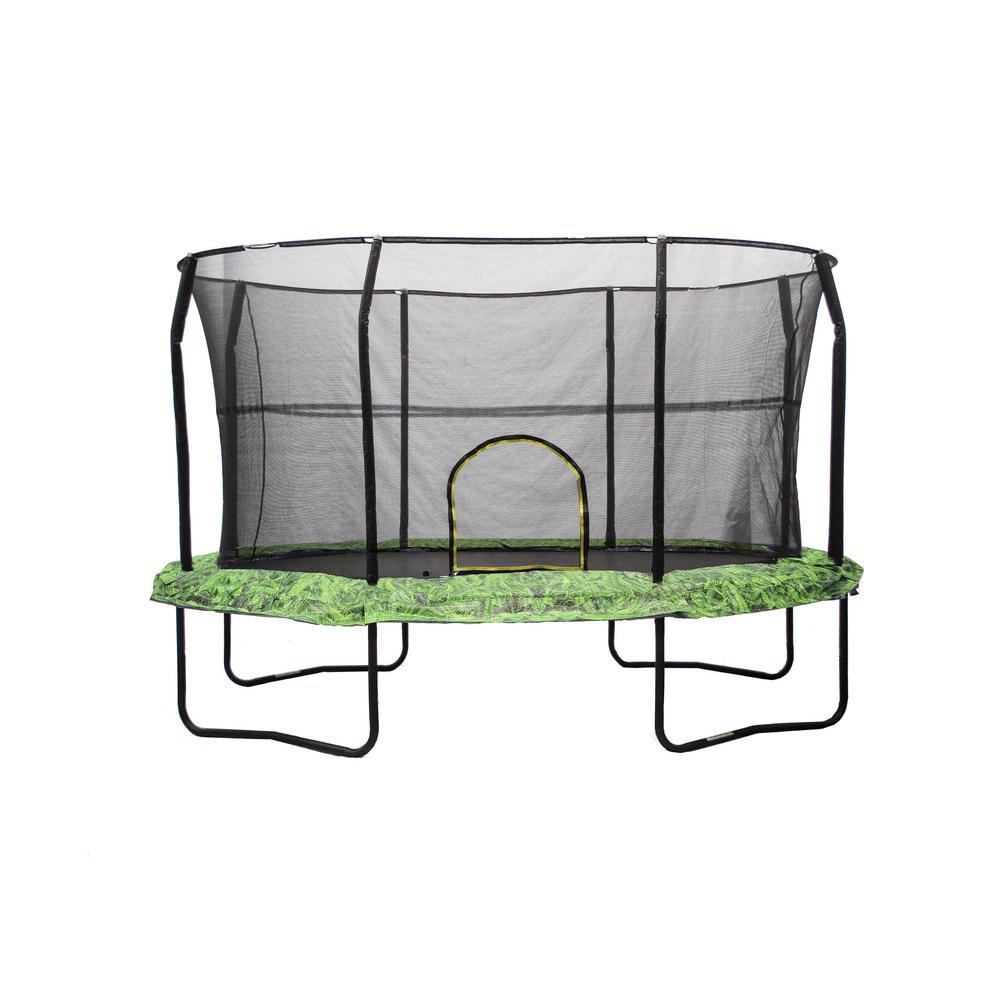 JUMPKING 8 ft. by 12 ft. Fern Trampoline Enclosure Combo ...