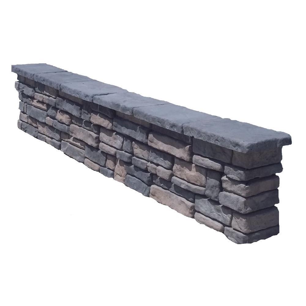 64 in. Random Limestone Seat Wall