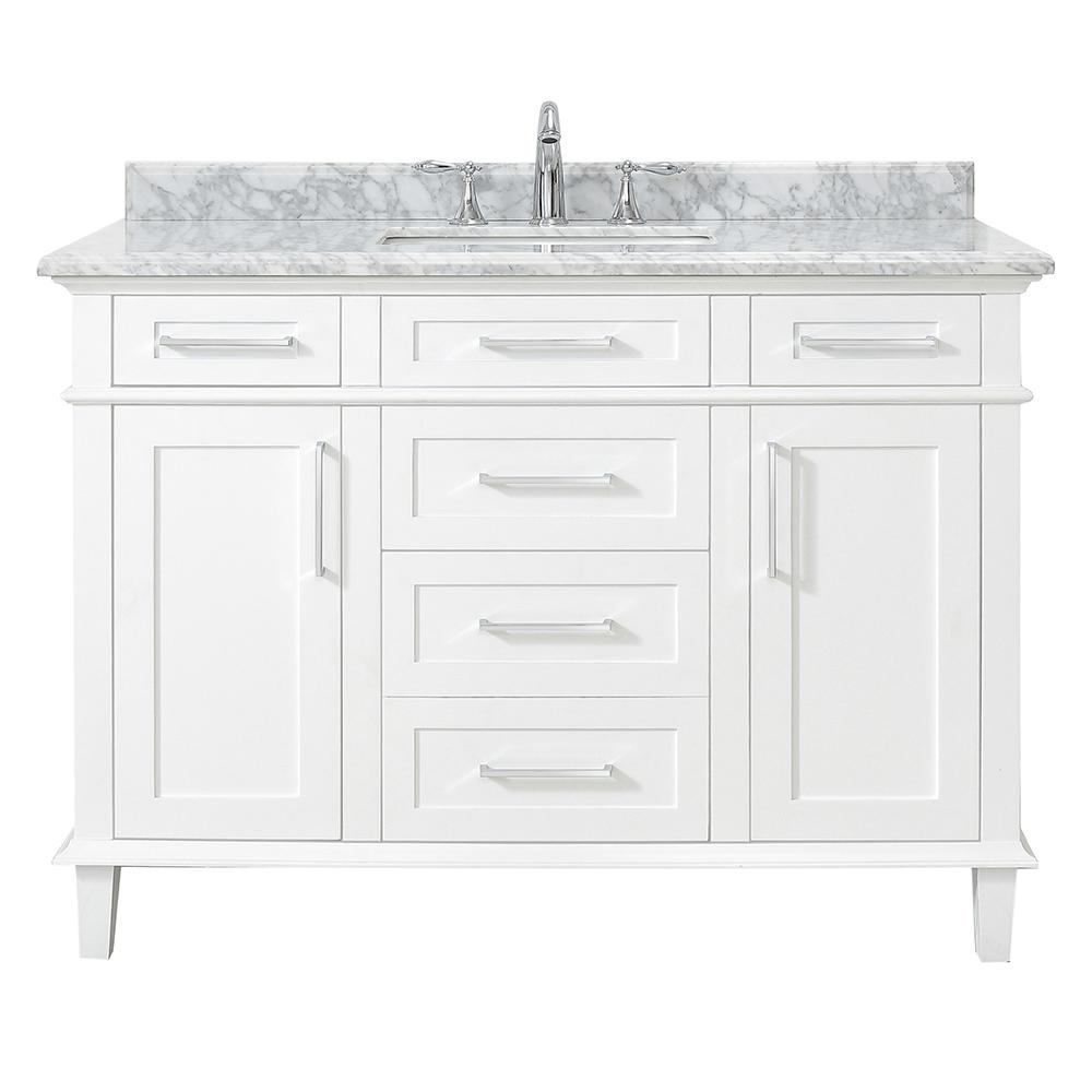 Home Decorators Collection Sonoma 48 In W X 22 D Vanity White