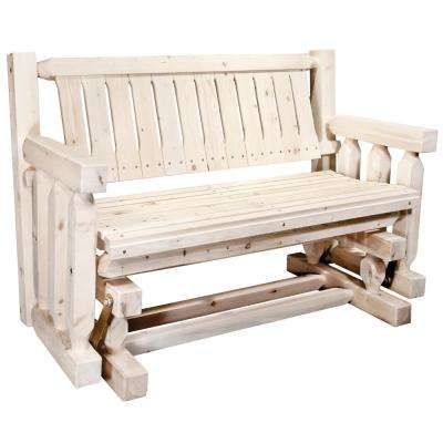 Homestead 2-Person Wood Outdoor Glider