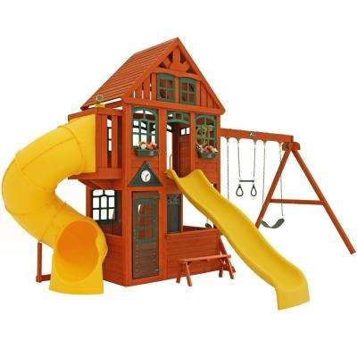 Twin Mountain Lodge Wooden Swing Set