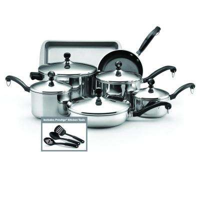 Classic 12-Piece Stainless Steel Cookware Set with Lids