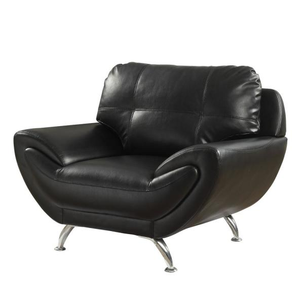 Reanna Black Contemporary Style Living Room Chair