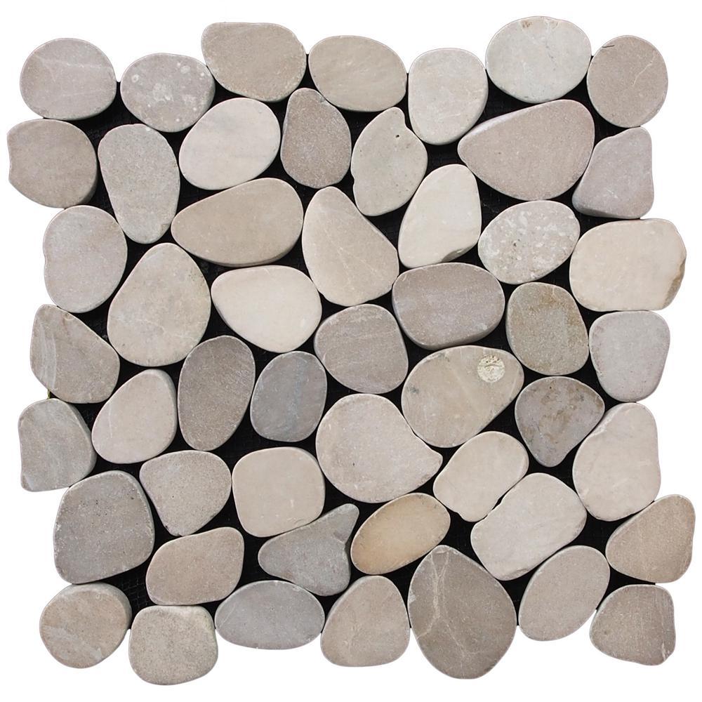 Cruz Bay Sliced Pebble Tile Tan 11 1 2