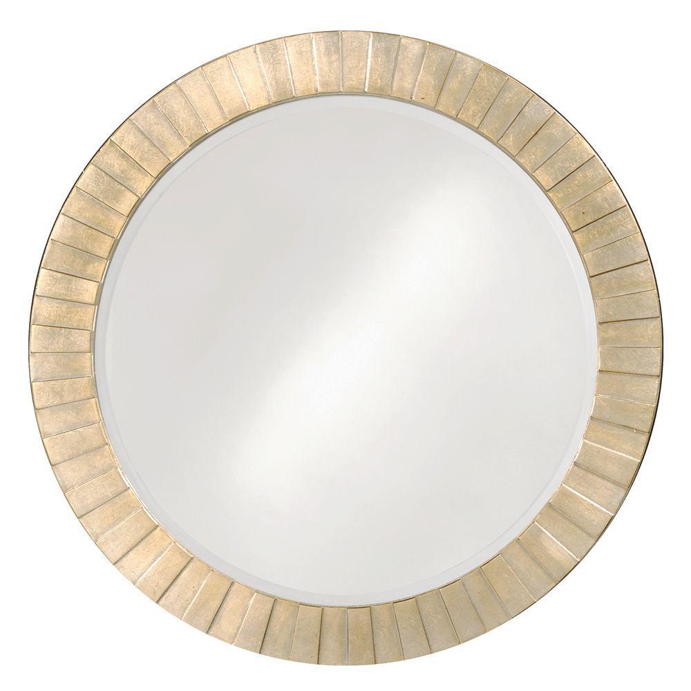 null 34 in. x 34 in. Round Framed Mirror
