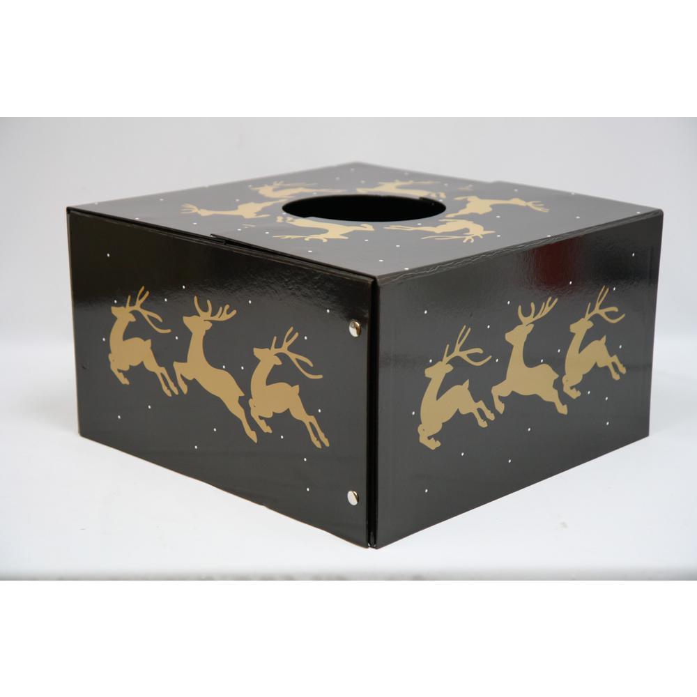6 inch Dia Reindeer Original Christmas Tree Skirt Box by