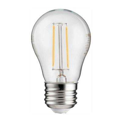 25-Watt Equivalent A15 Indoor/Outdoor Clear Glass Edison LED Light Bulb Amber Warm White (2200K)