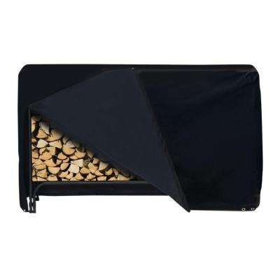 96 in. x 42 in. Log Rack Cover in Black