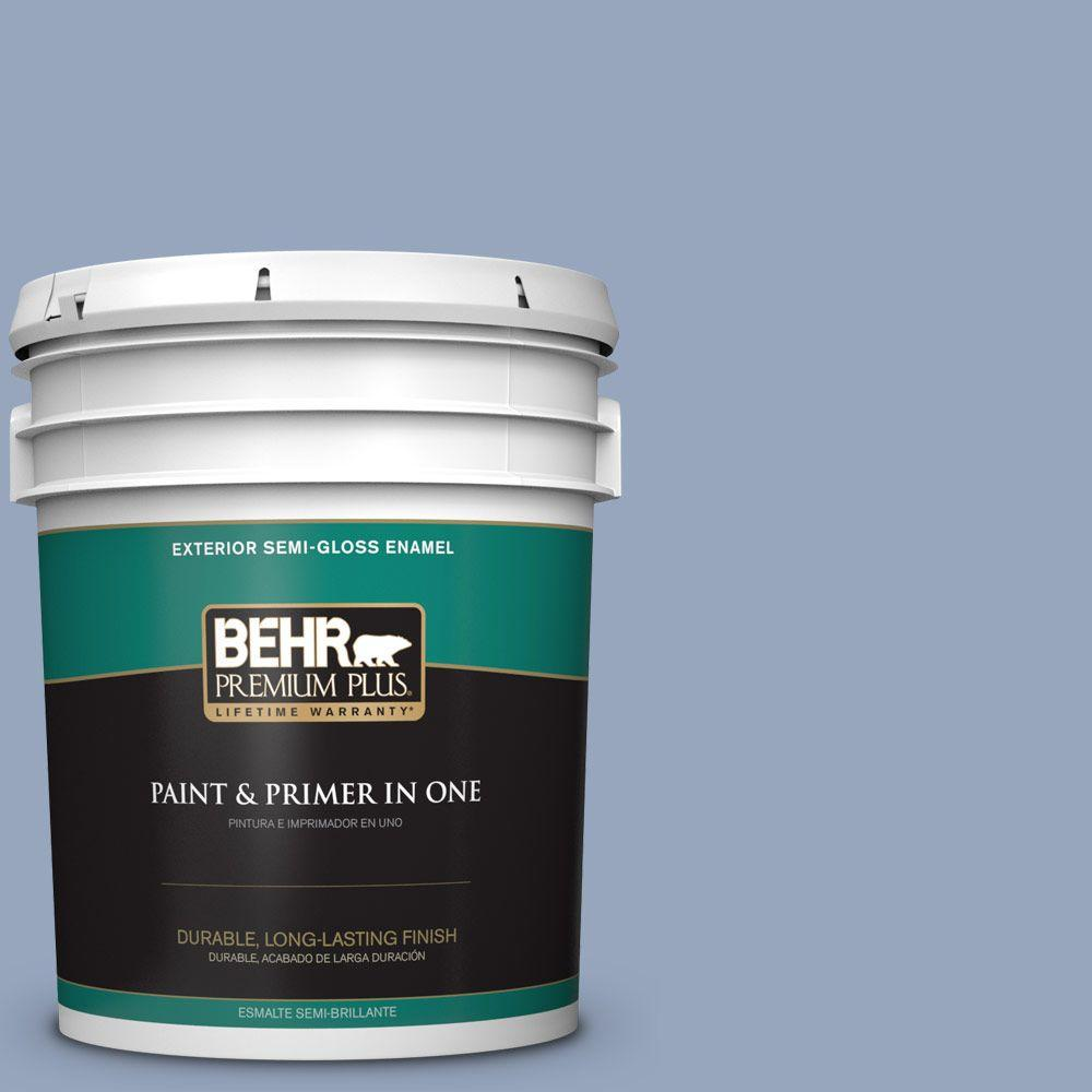 5-gal. #590F-4 Cloudberry Semi-Gloss Enamel Exterior Paint
