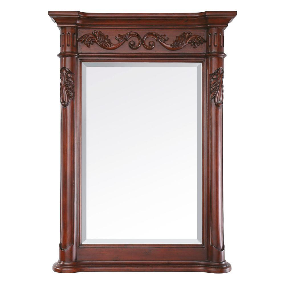 Avanity Provence 24 in. x 33 in. Beveled Mirror in Antique Cherry ...