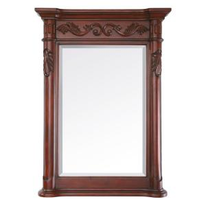 Avanity Provence 24 inch x 33 inch Beveled Mirror in Antique Cherry by Avanity