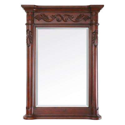 Provence 24 in. x 33 in. Beveled Mirror in Antique Cherry