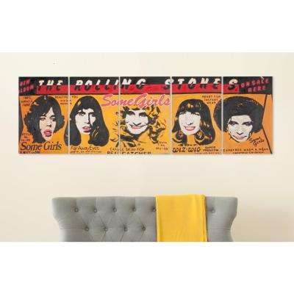 """22 in. x 14 in. """"5-Piece Girl Power"""" Wall Art"""